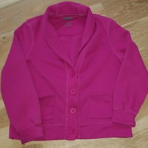 Cozy L.L. Bean sweater jacket in pink/plum